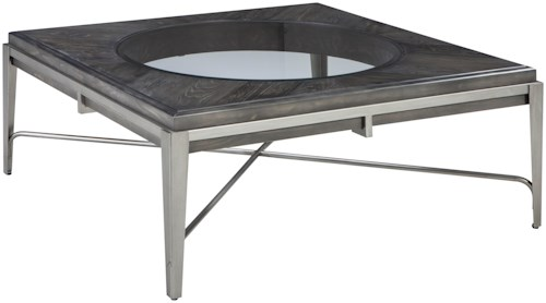 Signature Design by Ashley Flandyn Square Cocktail Table with Metal Frame
