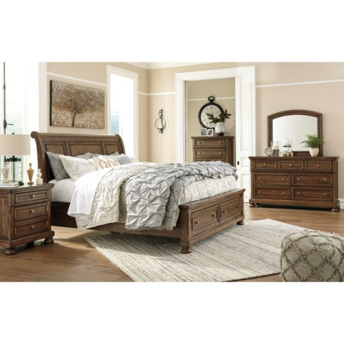 Signature Design By Ashley Flynnter Queen Bedroom Group Runes