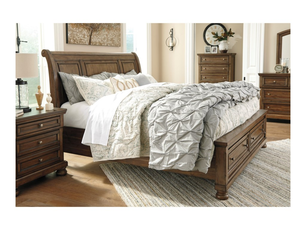 Signature Design by Ashley FlynnterKing Sleigh Storage Bed