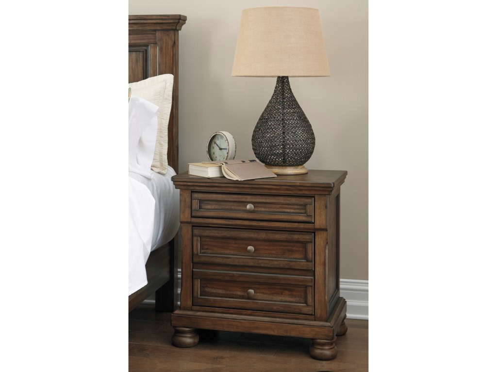 Signature Design by Ashley FlynnterTwo Drawer Night Stand