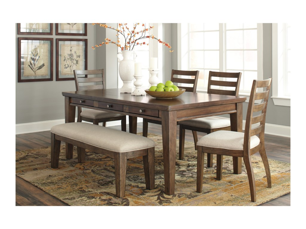 Flynnter 6 Piece Storage Table Set With Bench By Signature Design Ashley At Value City Furniture