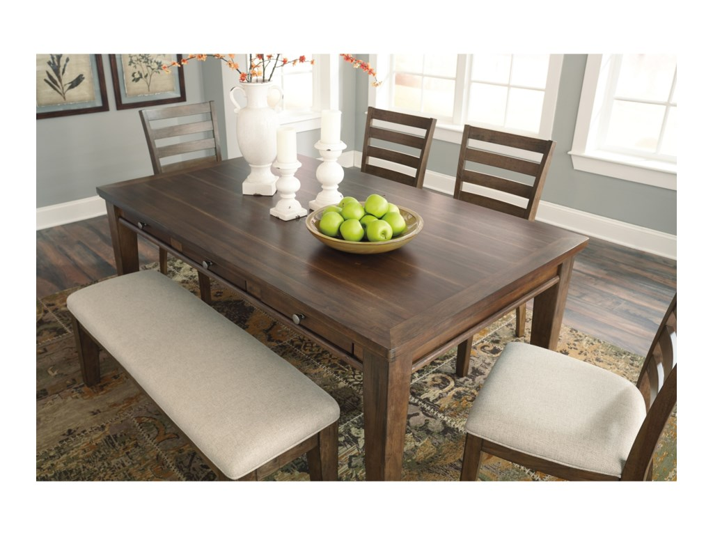 Signature Design by Ashley Flynnter6 Piece Storage Table Set with Bench