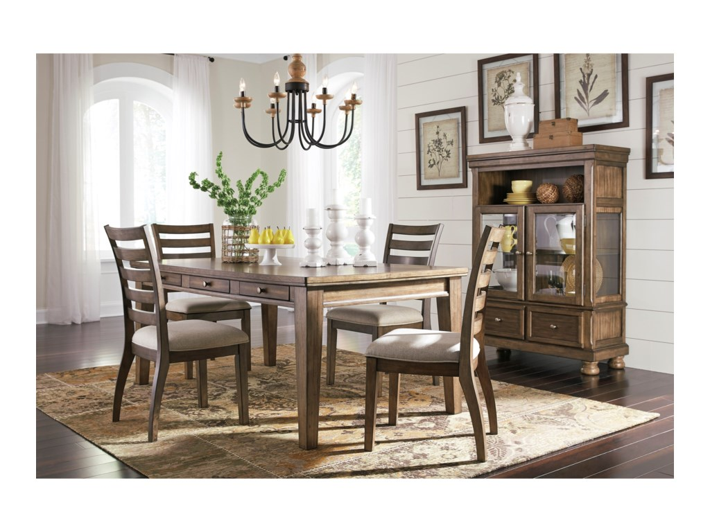 Signature Design by Ashley Flynnter5 Piece Table and Chair Set