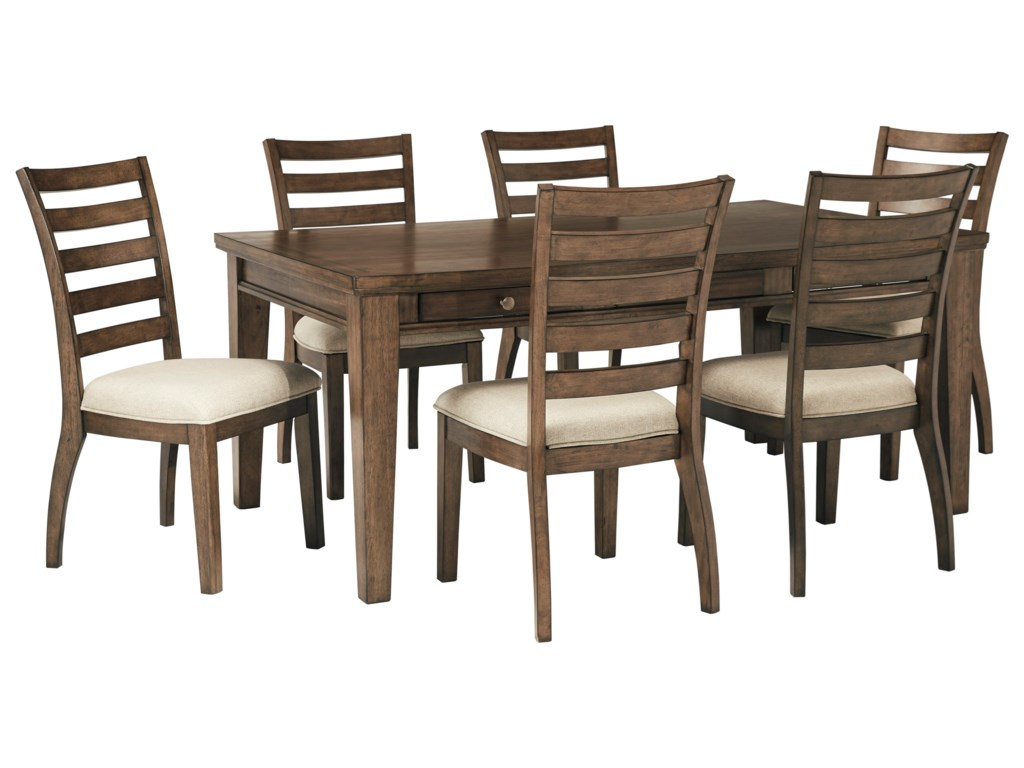 Signature Design by Ashley Flynnter7 Piece Table and Chair Set