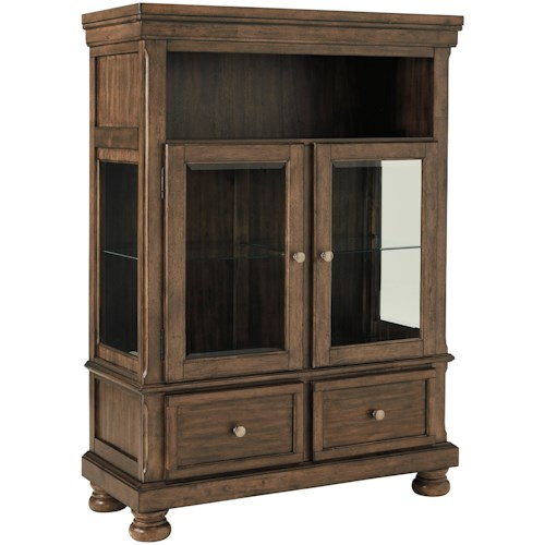 Signature Design by Ashley Flynnter Dining Curio with Glass Shelving