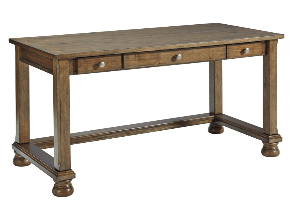 Signature Design by Ashley Flynnter Home Office Desk with Three ...