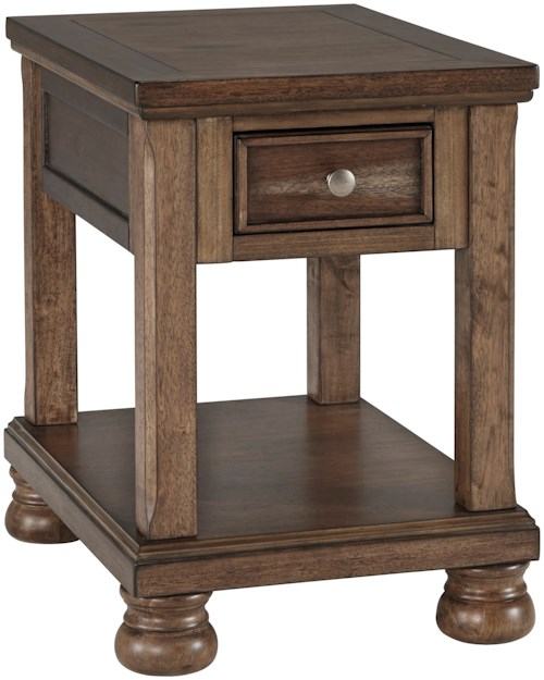 Signature Design by Ashley Flynnter Transitional Chair Side End Table