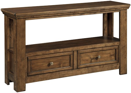 Signature Design by Ashley Flynnter Sofa Table with Shelf and 2 Drawers