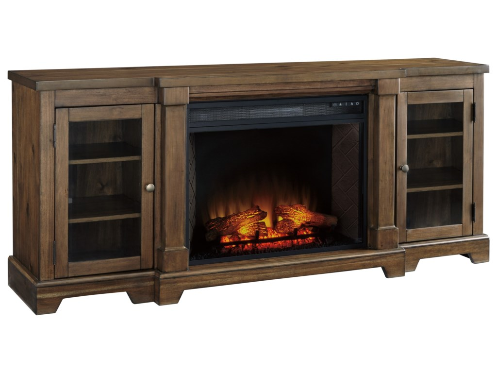 Signature Design by Ashley FlynnterExtra Large TV Stand with Fireplace Insert
