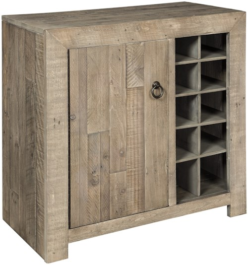 Signature Design by Ashley Forestmin Rustic Wine Cabinet