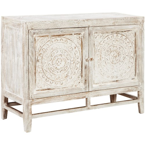Signature Design by Ashley Fossil Ridge Relaxed Vintage Door Accent Cabinet