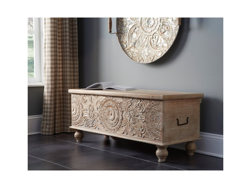 Signature Fossil RidgeStorage Bench