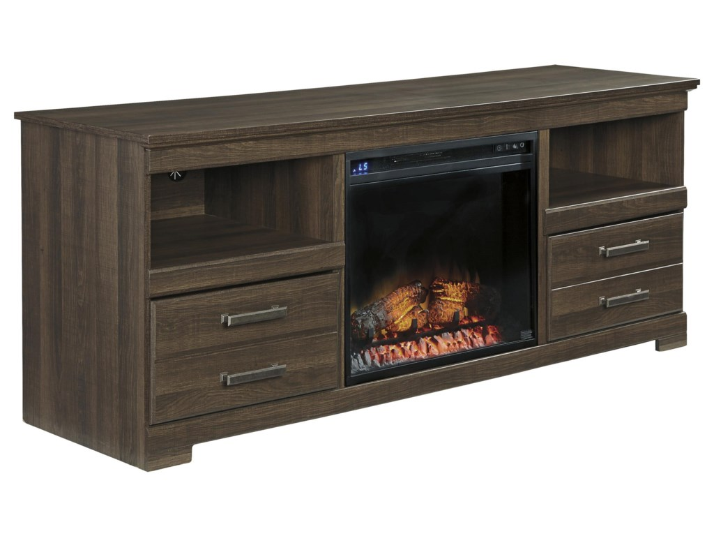 StyleLine JANE OR DICKLarge TV Stand w/ Fireplace Insert