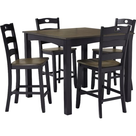 5-Piece Square Counter Table Set
