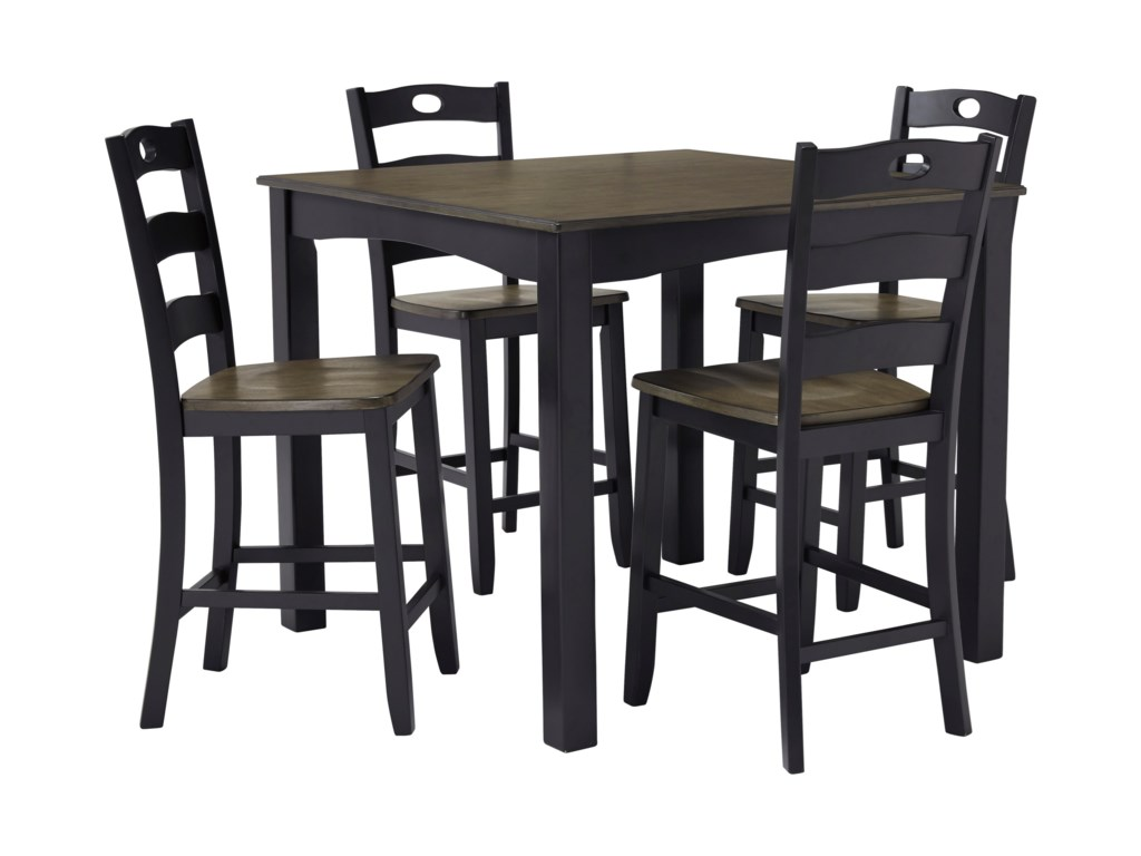 Signature Design by Ashley Frost5-Piece Square Counter Table Set
