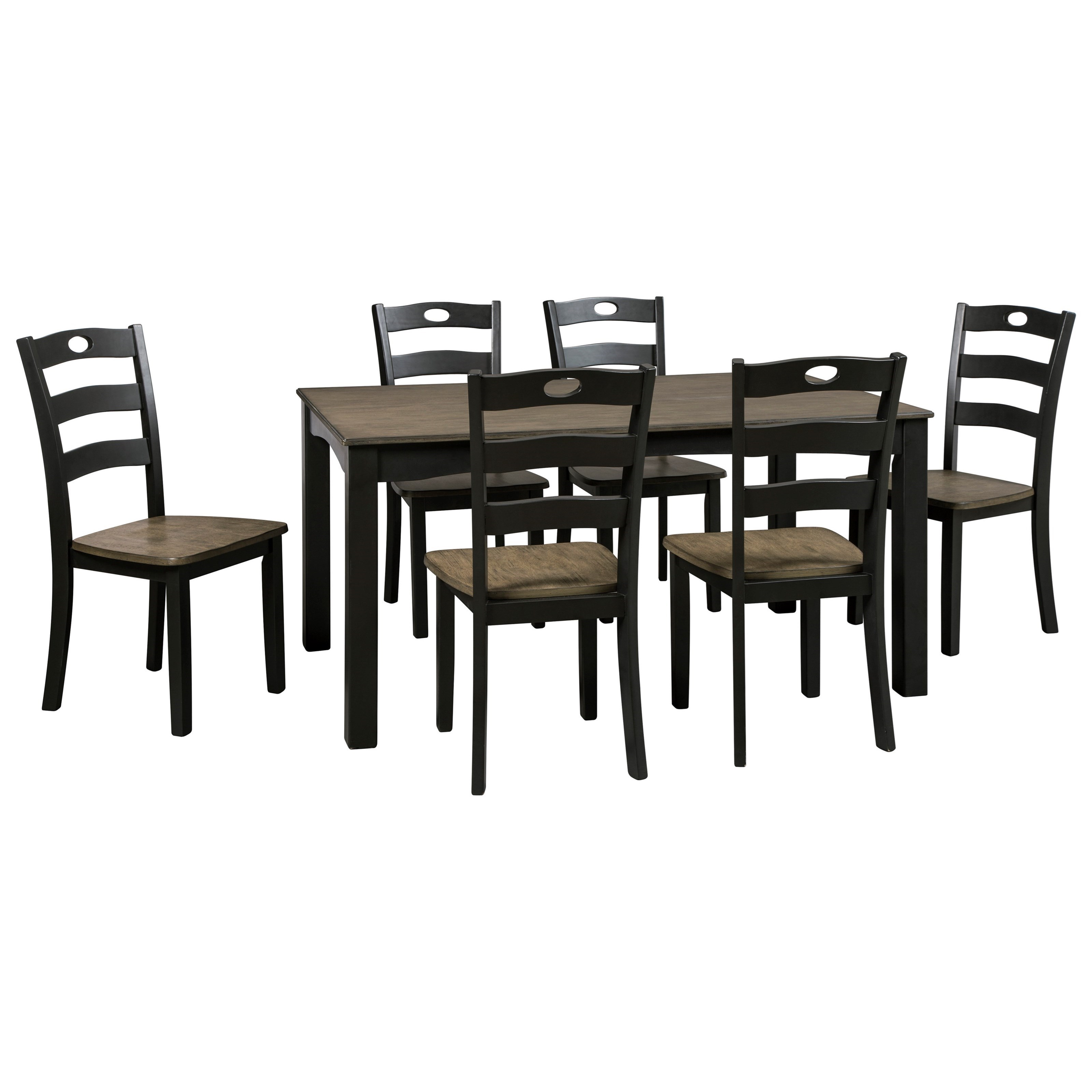Signature Design by Ashley Froshburg Two-Tone Finish 7-Piece Dining Room Table Set  sc 1 st  Boulevard Home Furnishings & Signature Design by Ashley Froshburg Two-Tone Finish 7-Piece Dining ...