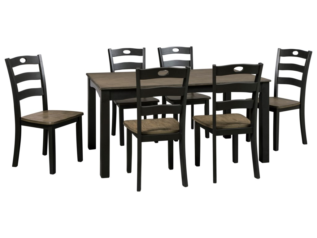 Signature Design Froshburg7-Piece Dining Room Table Set