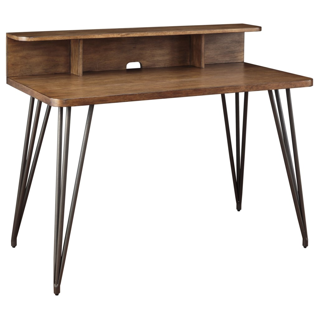Fullinfurst contemporary home office desk with wire management by signature design by ashley