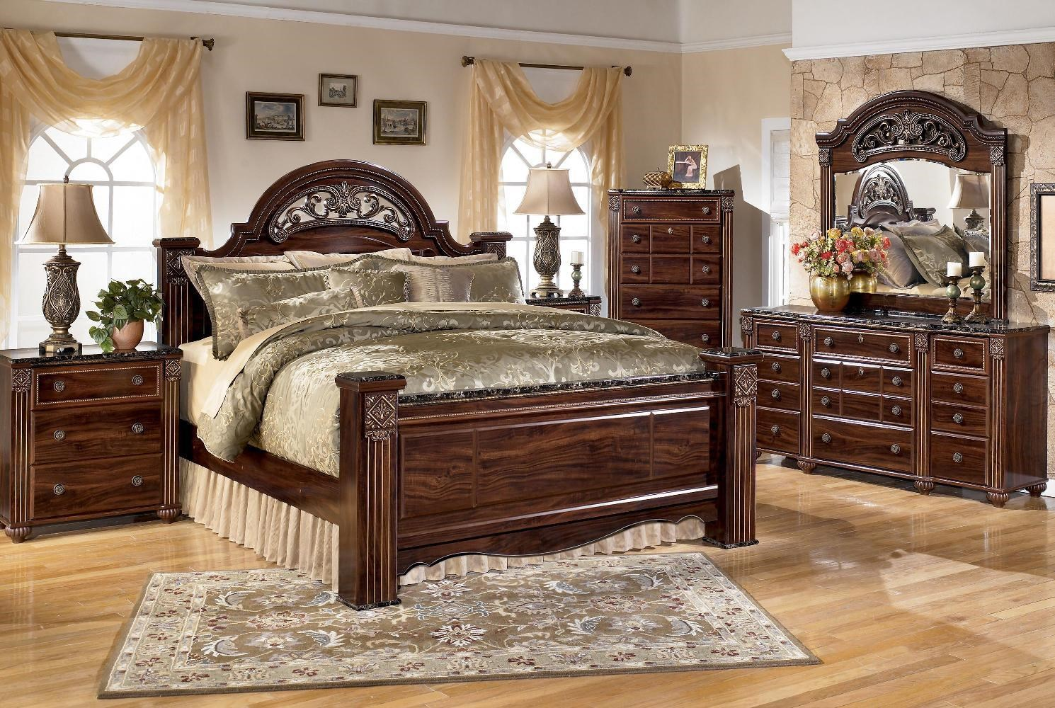 ashley traditional bedroom furniture grand master bedroom signature design by ashley gabriela traditional bedroom group