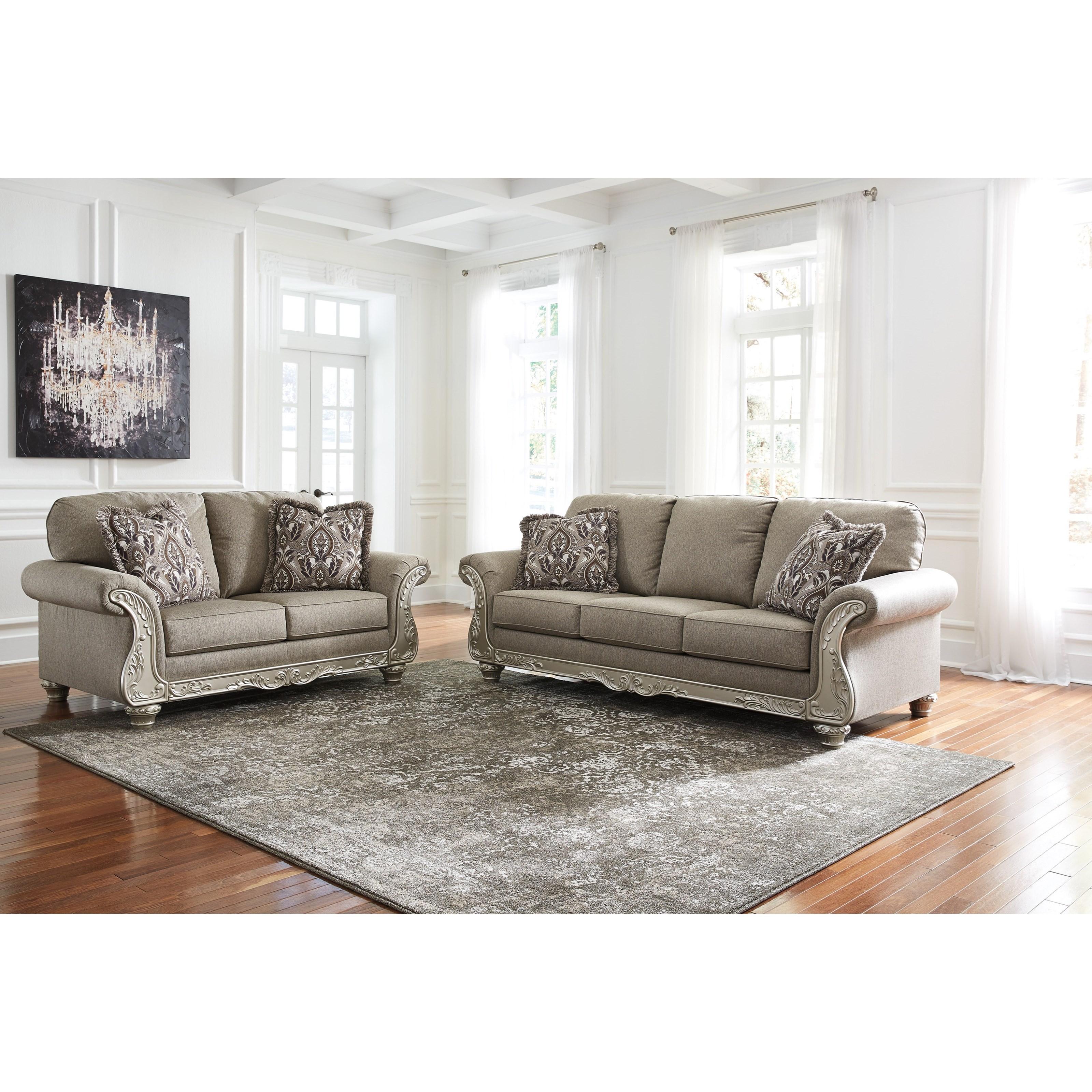 Captivating Signature Design By Ashley Gailian Stationary Living Room Group