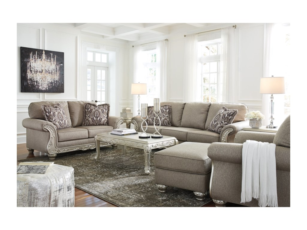 Signature Design by Ashley Gailian Stationary Living Room Group ...