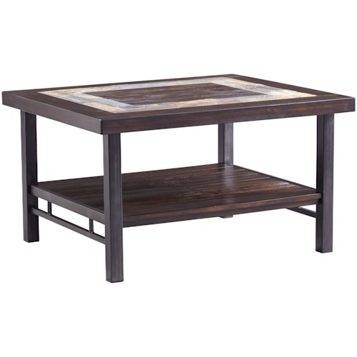 Signature Design By Ashley Gallivan Rectangular Cocktail Table With - Coffee table with tile inlay