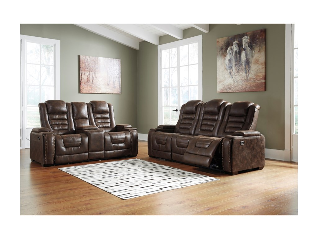 Signature Design by Ashley Game ZoneReclining Living Room Group