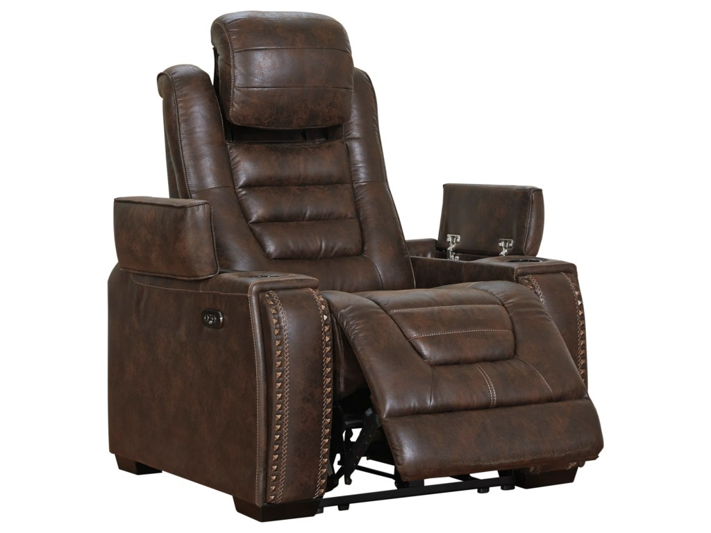 Signature Design by Ashley Game ZonePower Recliner with Adjustable Headrest