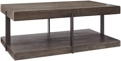 Signature Design by Ashley Gantoni Industrial Rectangular Cocktail Table