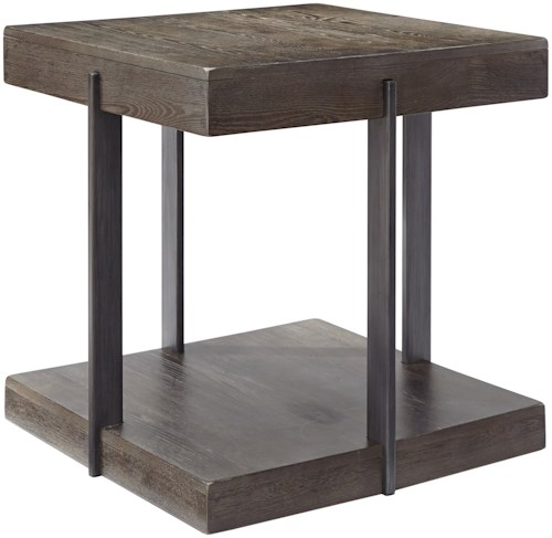 Signature Design by Ashley Gantoni Industrial Square End Table