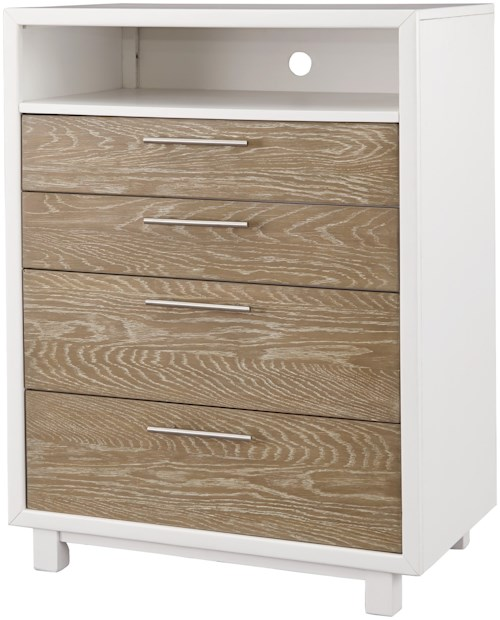 Signature Design by Ashley Gardomi Two-Tone Contemporary 4 Drawer Chest