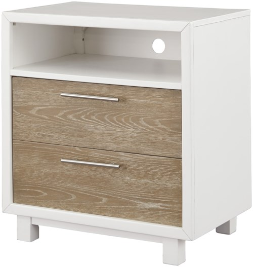 Signature Design by Ashley Gardomi Two-Tone Contemporary 2 Drawer Night Stand