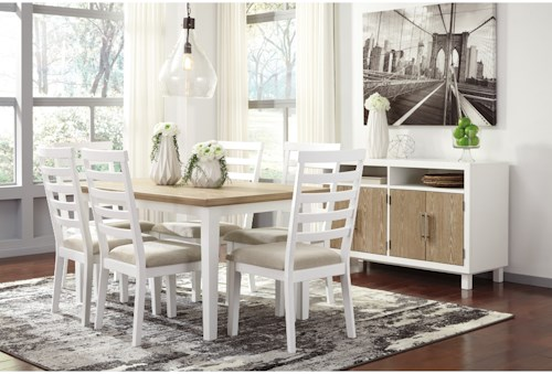 Signature Design By Ashley Gardomi Casual Dining Room Group  Rooms