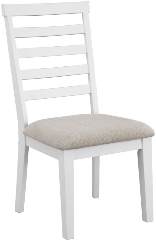Signature Design by Ashley Gardomi Dining Upholstered Side Chair with Ladderback and Performance Fabric