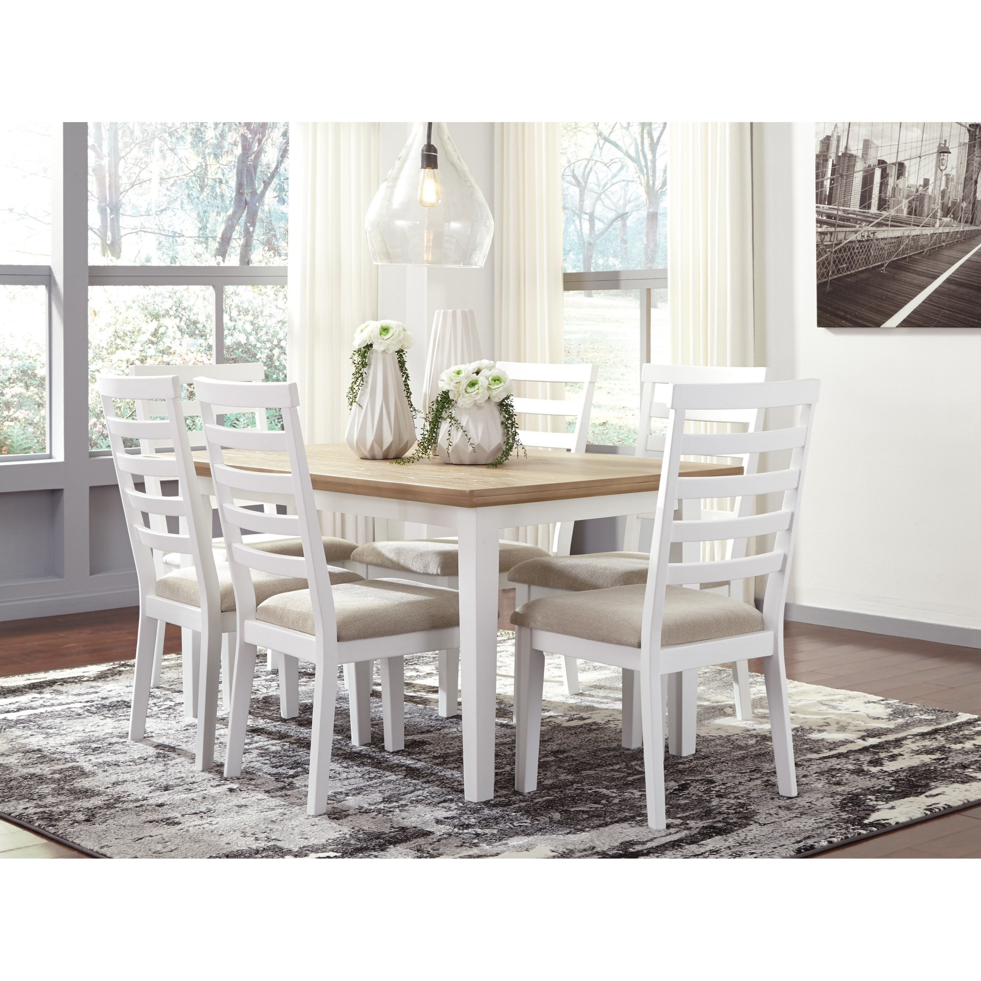 ... Signature Design by Ashley Gardomi7-Piece Rectangular Dining Room Table Set ...  sc 1 st  Royal Furniture & Signature Design by Ashley Gardomi Two-Tone 7-Piece Rectangular ...