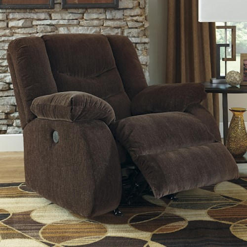 Signature Design by Ashley Garek - Cocoa Casual Rocker Recliner with Pillow Arms