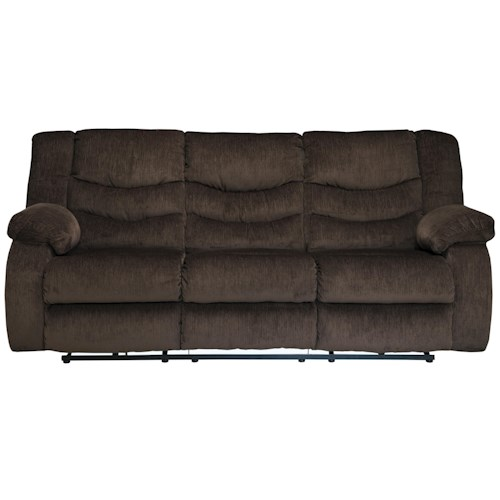Signature Design by Ashley Garek - Cocoa Casual 3 Seat Reclining Sofa with Pillow Arms