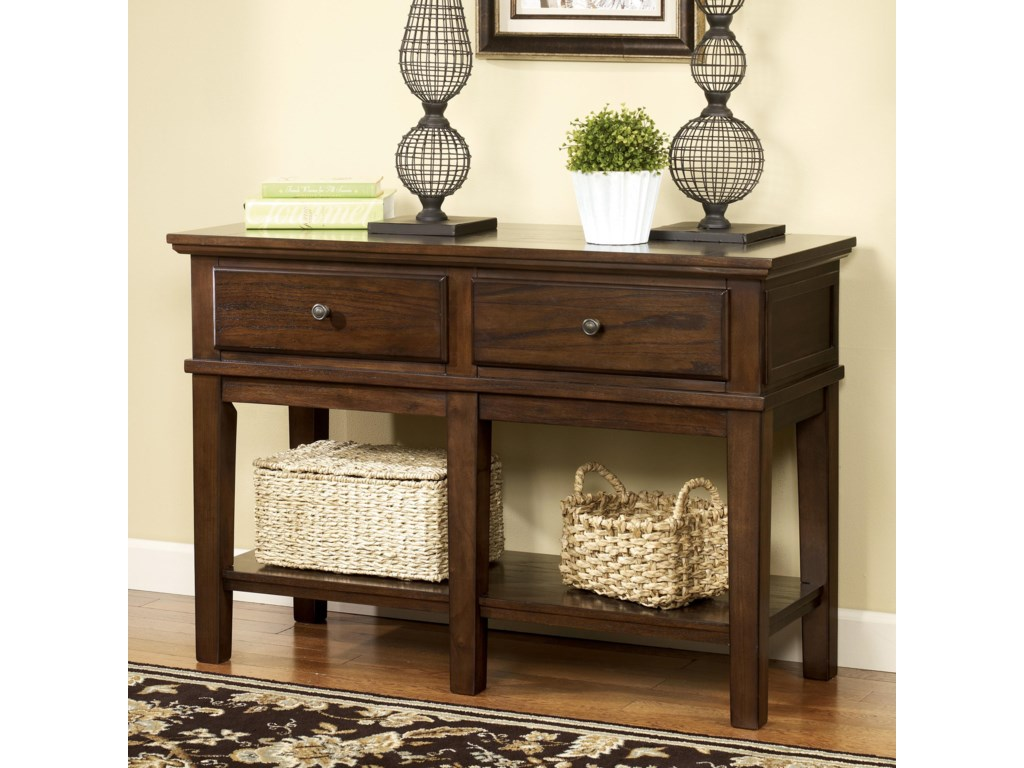 Signature Design By Ashley Gately Sofa Console TableTall TV Stand - Ashley gately coffee table