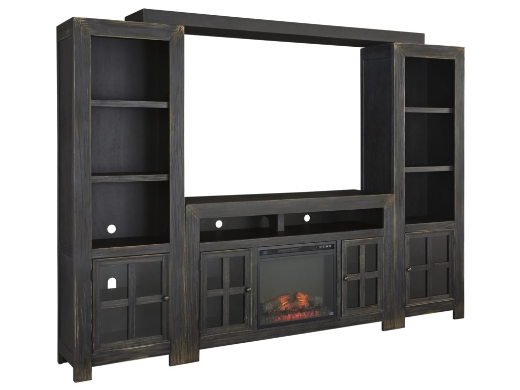electric entertainment walnut and corner with black wall corinth rm fireplace center burnished