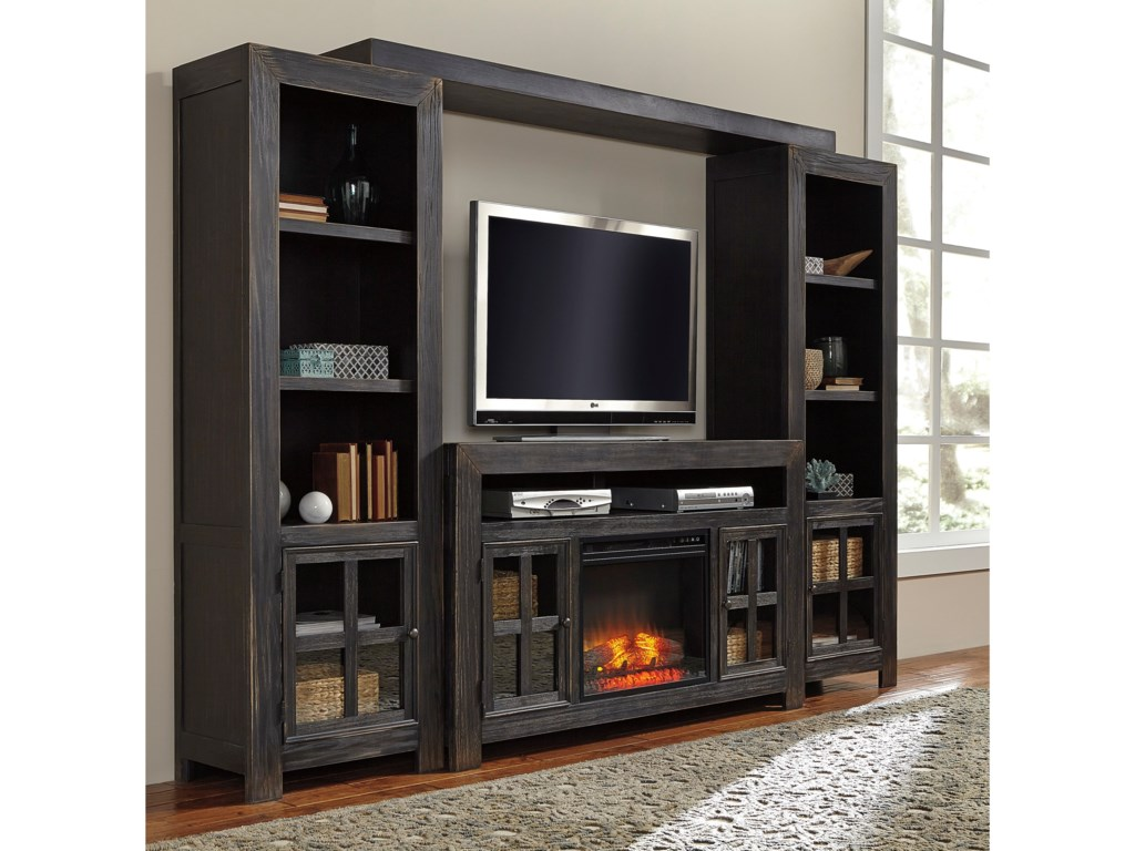 Signature Design by Ashley GavelstonTV Stand with Fireplace, Piers & Bridge
