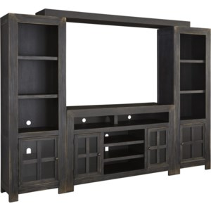 Ashley Signature Design Gavelston W732 23 38 25 24 Entertainment Wall Unit W Large Tv Stand Bridge And Piers O Dunk O Bright Furniture Wall Unit