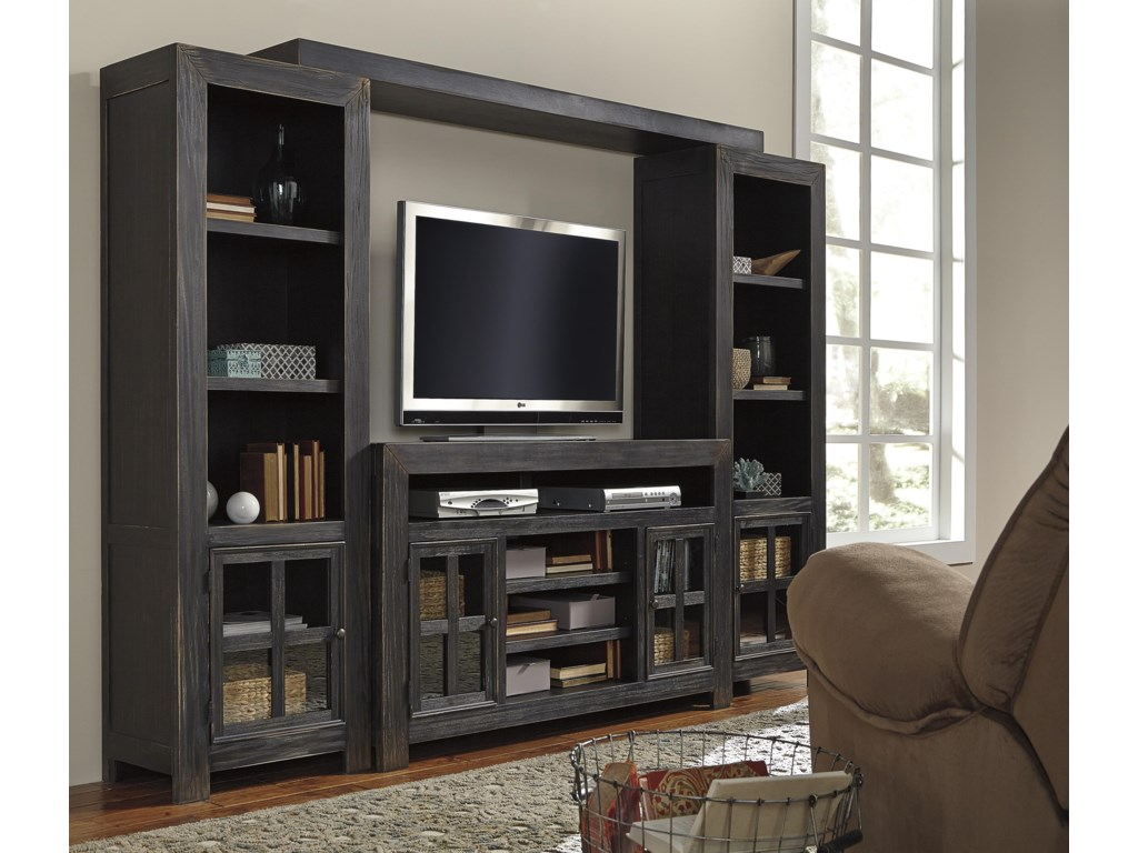 Signature Design by Ashley GavelstonTV Stand with Piers & Bridge