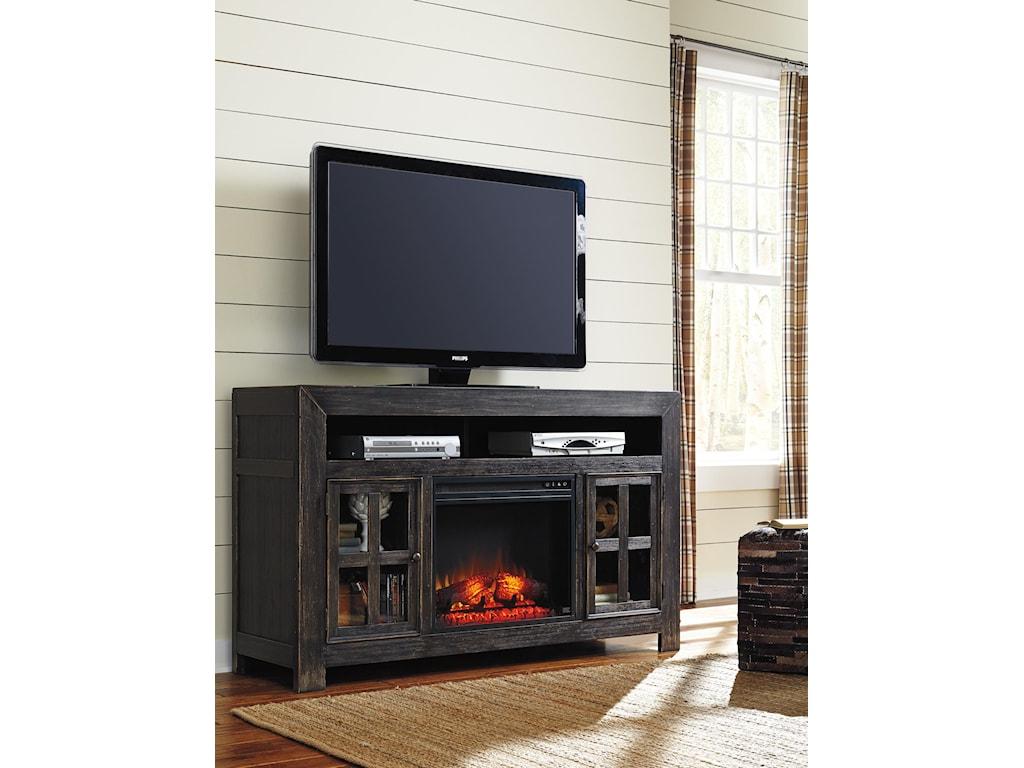 Ashley (Signature Design) GavelstonLarge TV Stand w/ Fireplace Insert