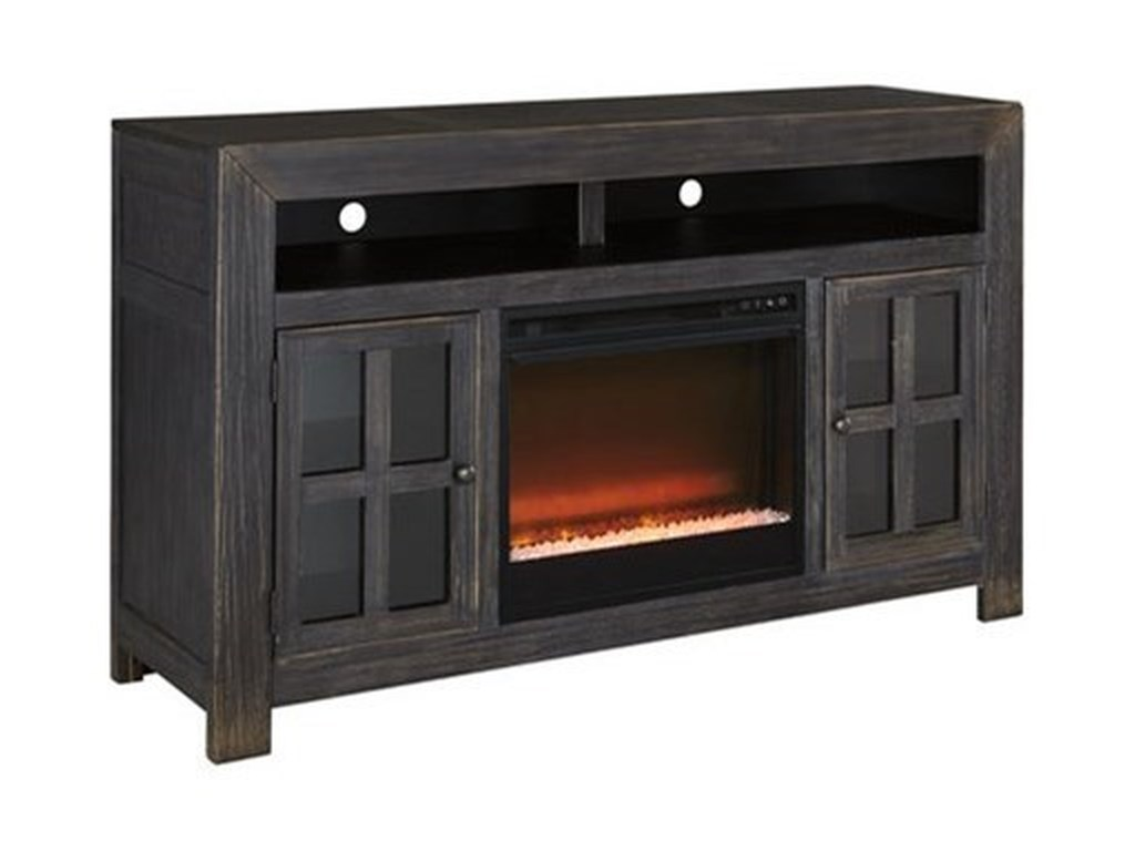 Signature Design by Ashley GulfportLarge TV Stand w/ Fireplace Insert
