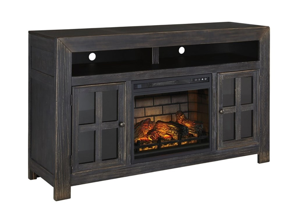 Signature Design by Ashley GulfportLarge TV Stand w/ Fireplace Insert
