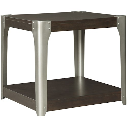 Signature Design by Ashley Geriville Industrial Square End Table
