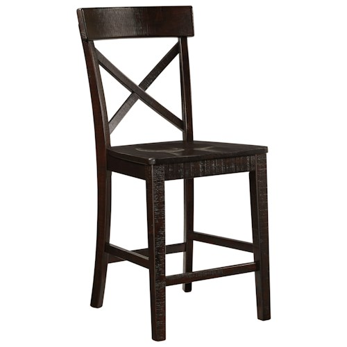 Signature Design by Ashley Gerlane Solid Pine Wood Barstool