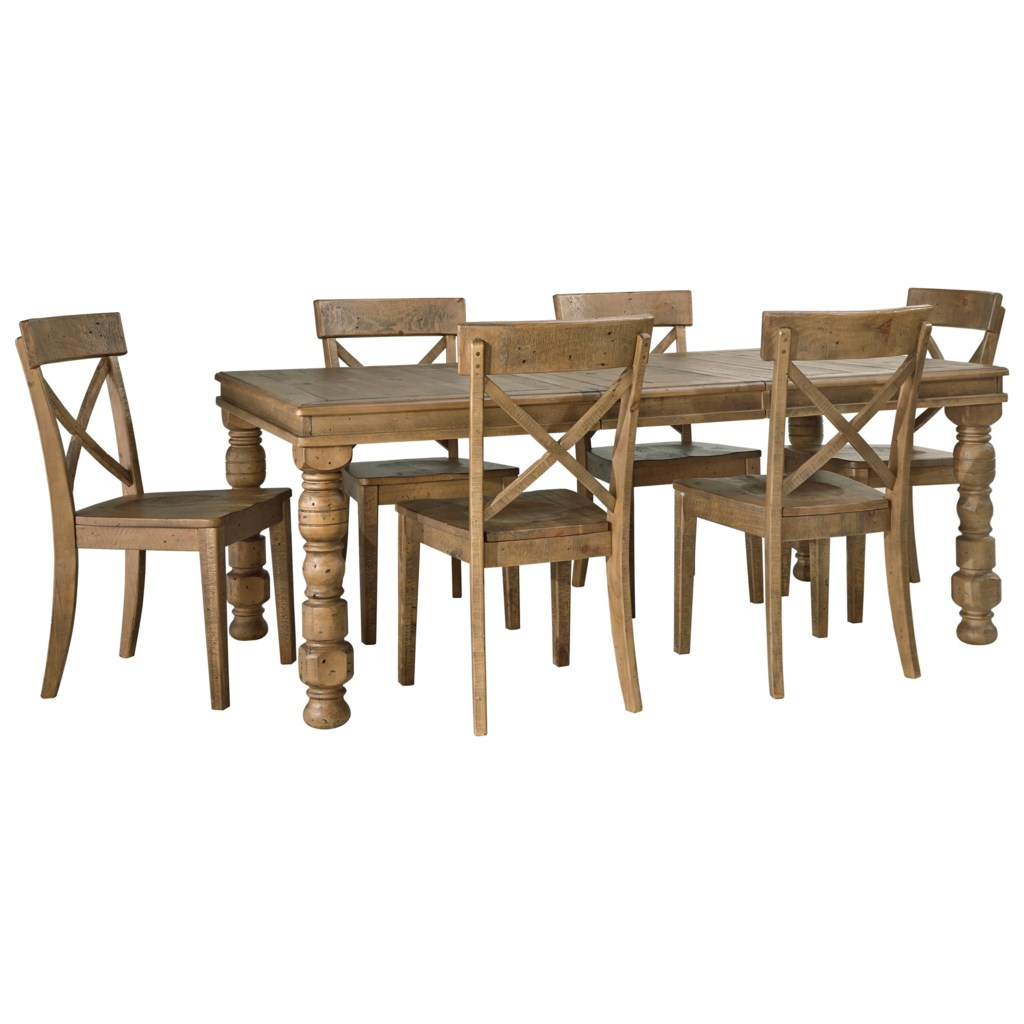 signature design by ashley trishley 7 piece solid pine dining