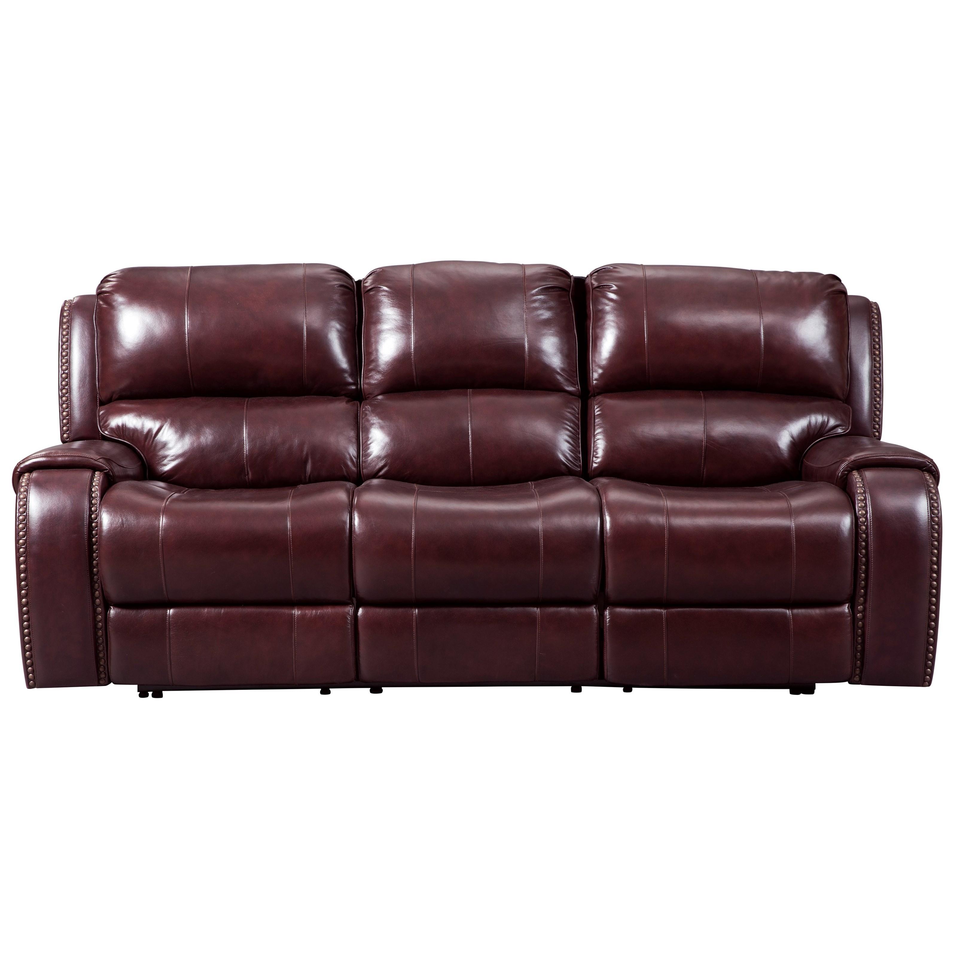 Signature Design By Ashley Gilmanton Power Reclining Sofa W/ Adjustable  Headrest