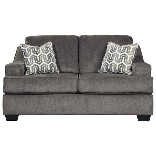 Signature Design by Ashley Gilmer Contemporary Loveseat with Track Arms